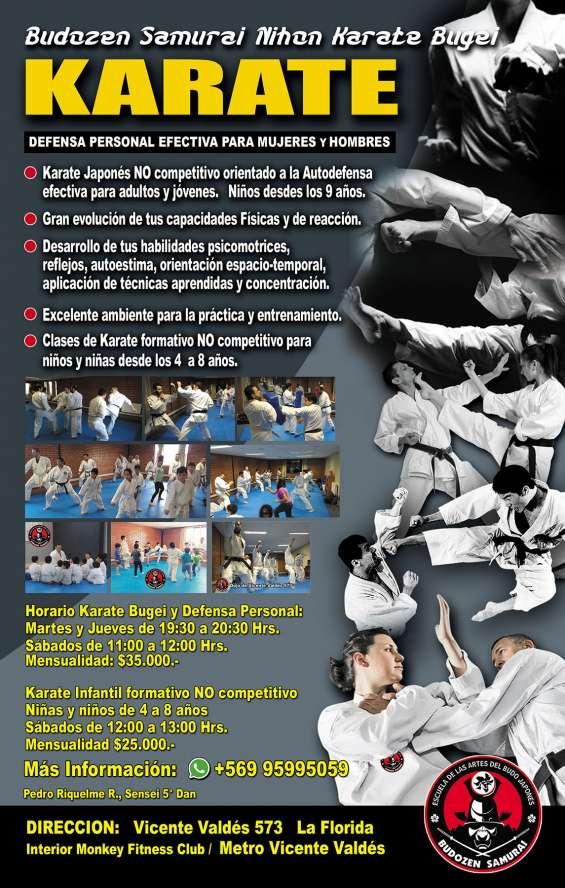 Karate y defensa personal adultos y jóvenes.