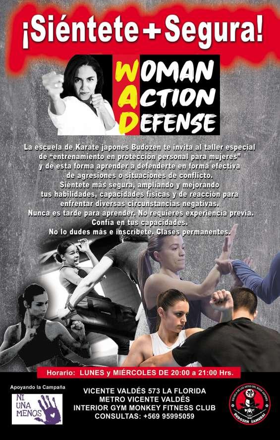 Defensa y seguridad personal para mujeres